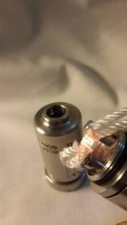 AIOS in dripper mode set up with silica wick