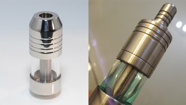 Left: Polished AGA-T2. Right: Brushed AGA-T2.
