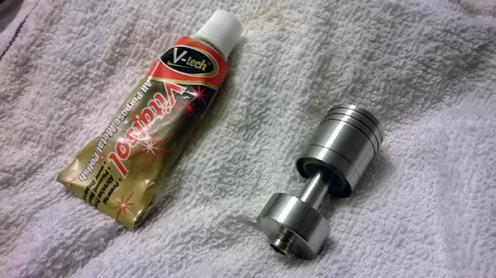 I used Vitalsol to polish the brushed AGA-T2 tank.